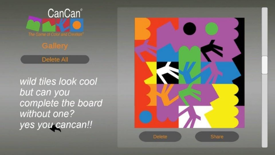Steam Finished CanCan game with wild tile